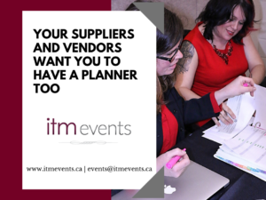 Your Suppliers/Vendors Want You to Have a Planner Too!
