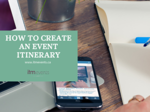 How to Create an Event Itinerary