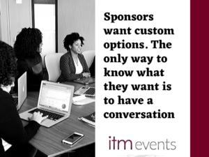 Sponsors Want Custom Options