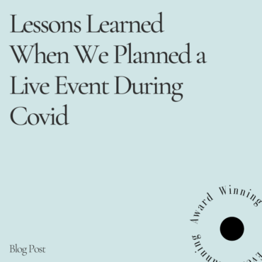 live event during covid blog post